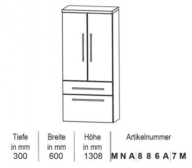 Puris Classic Line Mittelschrank 60 cm