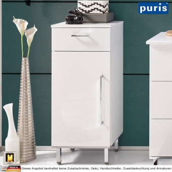 Puris QUADA Highboard 30 cm / 1 Tür + 1 Auszug - HBA553A1S