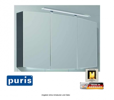 Puris Classic Line Spiegelschrank mit 3 Doppelspiegeltüren 90 cm