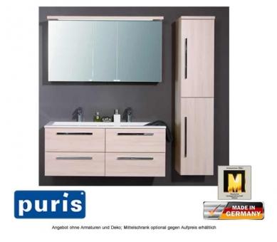 puris star line badm bel als set mit 2d spiegelschrank 140 cm impulsbad. Black Bedroom Furniture Sets. Home Design Ideas