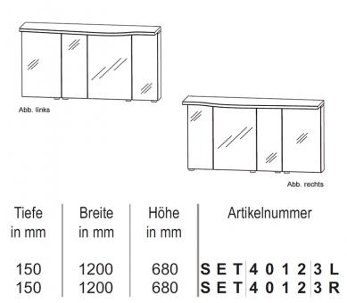puris 4life swing spiegelschrank mit led beleuchtung 120 cm impulsbad. Black Bedroom Furniture Sets. Home Design Ideas