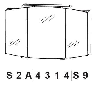 Puris Classic Line Spiegelschrank mit 3 Doppelspiegeltüren 140 cm