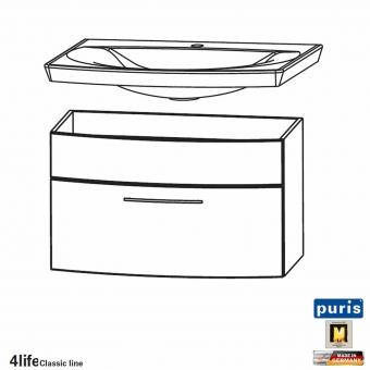 Puris Classic Line Badmobel Als Waschtisch Set 70 Cm 1 Auszug