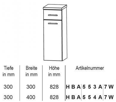 puris crescendo badm bel highboard mit w schekippe 30 cm. Black Bedroom Furniture Sets. Home Design Ideas