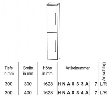 Puris Crescendo Hochschrank 30 cm