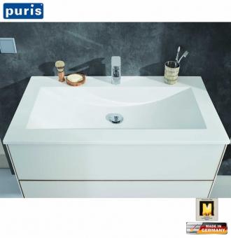 Puris ICE LINE Waschtisch-Set 60 cm mit Glas-Waschtisch