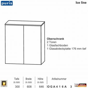 Puris ICE LINE Oberschrank 60 cm / 2 Türen - OGA416A3