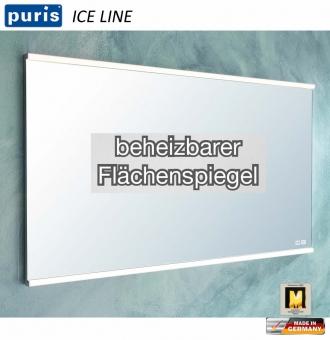 Puris ICE LINE Flächenspiegel 90 cm mit Spiegelheizung und Emotion LED - FSA439089