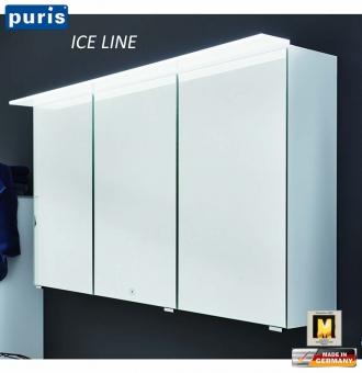 Puris ICE LINE Spiegelschrank 90 cm mit optionaler Spiegelheizung und Emotion LED - S2A439A