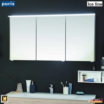 Puris ICE LINE Spiegelschrank 120 cm mit optionaler Spiegelheizung und Emotion LED - S2A431A