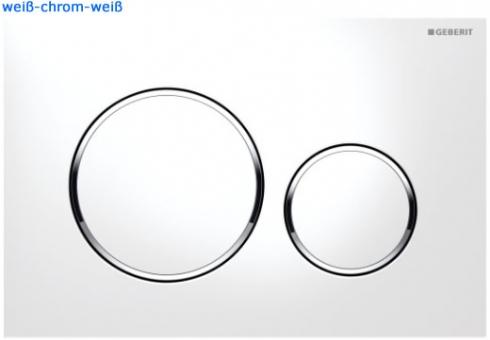 Sigma 20 Betätigungsplatte von Geberit, zu UP320 weiß/chrom/weiß