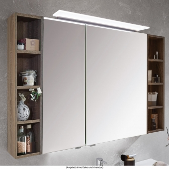 Puris Kera Plan Spiegelschrank mit seitlichen Regalen 120 cm