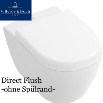 Subway 2.0 WC, Directflush, spülrandlos, CeramicPlus 5614R0R1 + SoftClose-Sitz 9M68S101