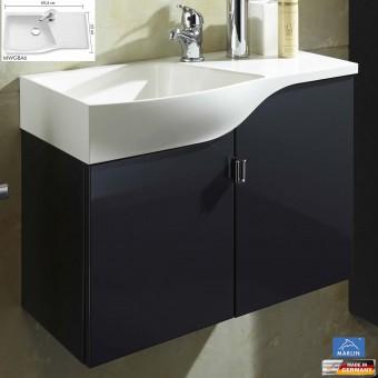 marlin 3010 badm bel als waschtisch set g stebad 60 cm mineralmarmor impulsbad. Black Bedroom Furniture Sets. Home Design Ideas