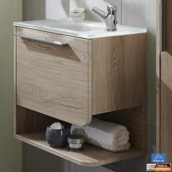 marlin 3010 badm bel als waschtisch set g stebad sky 50 cm glaswaschtisch impulsbad. Black Bedroom Furniture Sets. Home Design Ideas