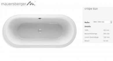 mauersberger badewanne ovata asymmetrisch 205 x 80 cm sechseck acryl 6 eck links l. Black Bedroom Furniture Sets. Home Design Ideas