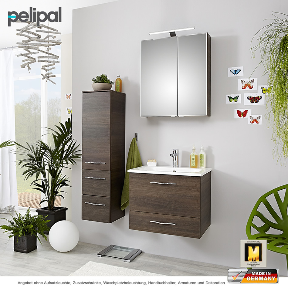 pelipal badm bel solitaire 6110 als set 60 cm mit spiegelschrank und waschtischset 2 ausz ge. Black Bedroom Furniture Sets. Home Design Ideas