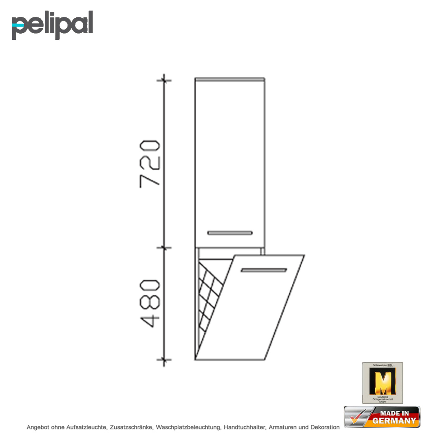 pelipal solitaire 7025 midischrank mit w schekippe 30 cm impulsbad. Black Bedroom Furniture Sets. Home Design Ideas