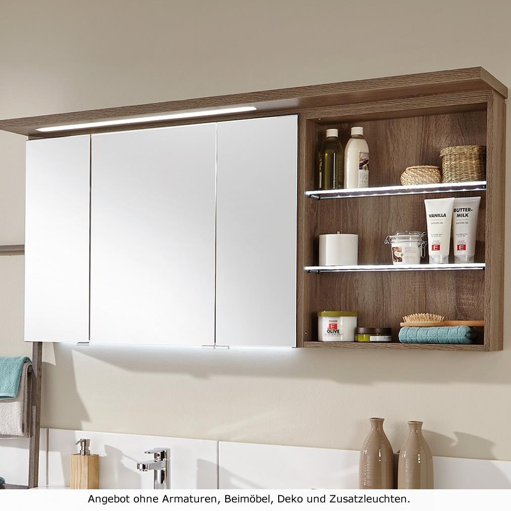 puris 4life swing spiegelschrank mit regal 140 cm mit led On spiegelschrank mit regal
