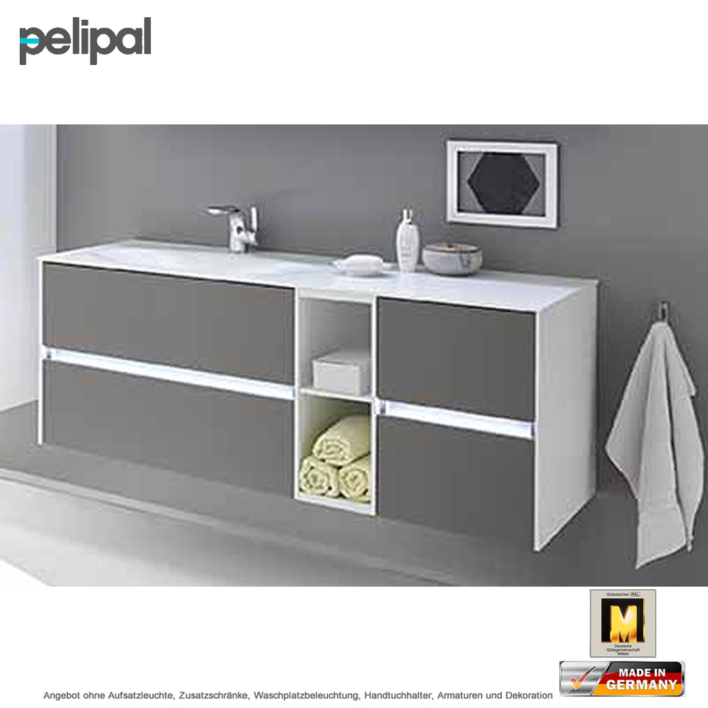 pelipal solitaire 6010 waschtischset 133 cm mit waschtisch und unterschrank 4 ausz ge impulsbad. Black Bedroom Furniture Sets. Home Design Ideas
