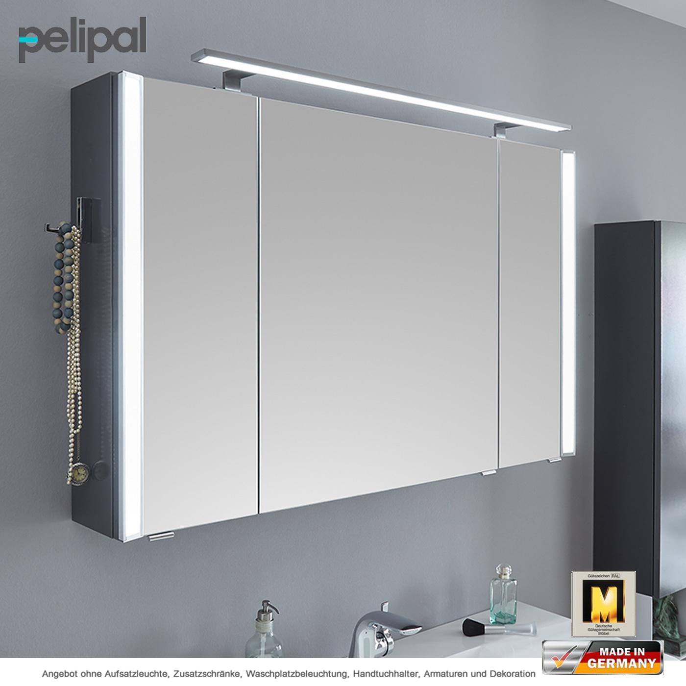 Pelipal Solitaire 9020 Spiegelschrank 115 cm mit seitl. Lichtprofil ...