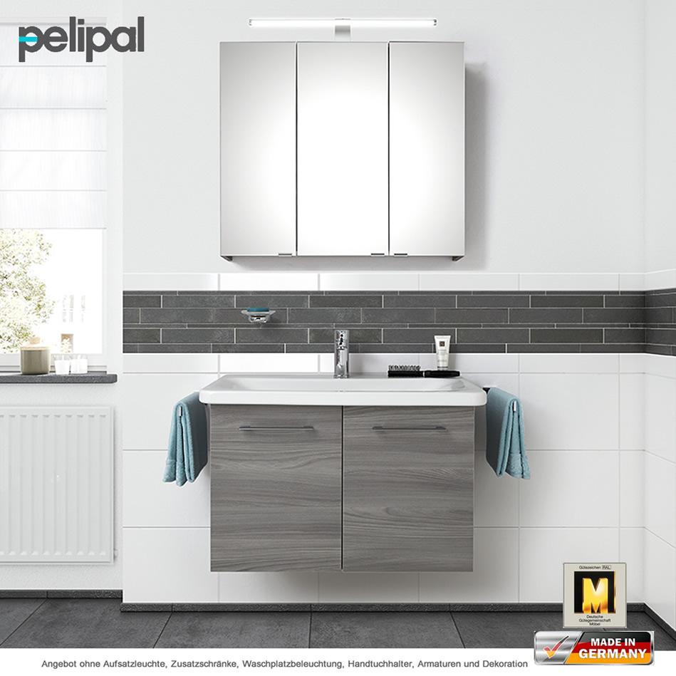 Pelipal Solitaire 9005 Badmöbelset 80 cm mit Spiegelschrank und ...