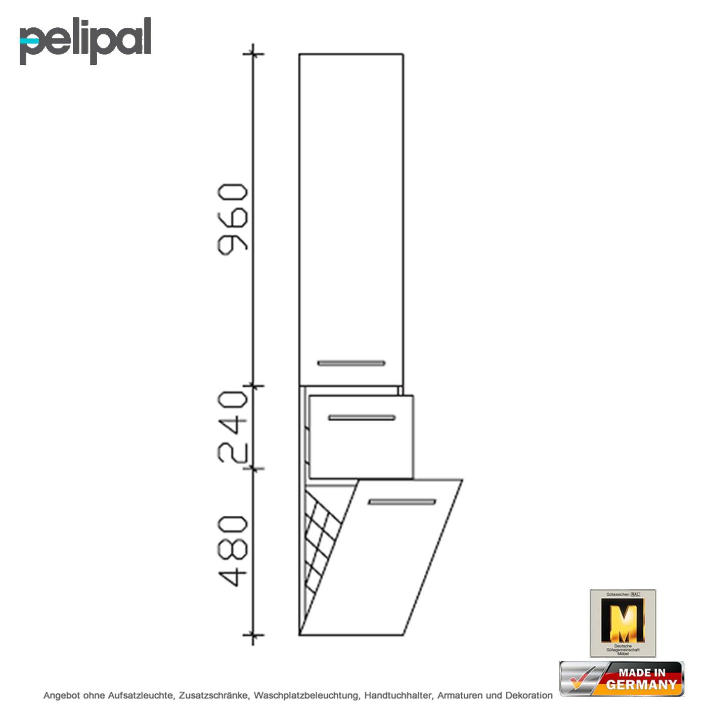 Pelipal Solitaire 7025 Hochschrank Mit Waschekippe 30 Cm Impulsbad