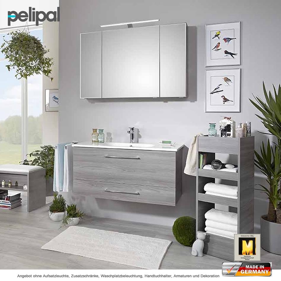 Pelipal badm bel solitaire 6110 als set 100 cm mit for Badmobel set mit spiegelschrank