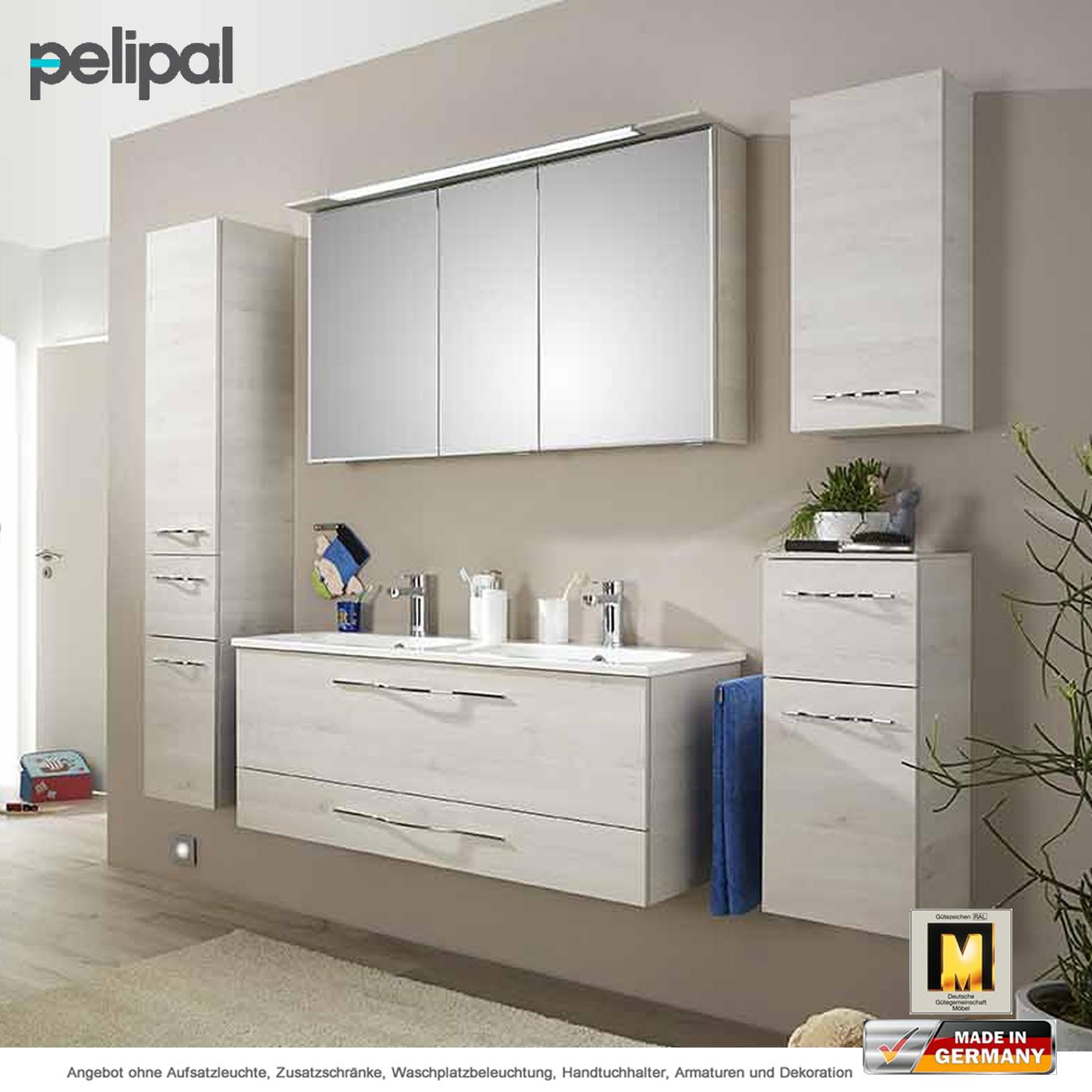 pelipal badm bel solitaire 6110 als set 120 cm mit spiegelschrank und doppelwaschtischset 2. Black Bedroom Furniture Sets. Home Design Ideas