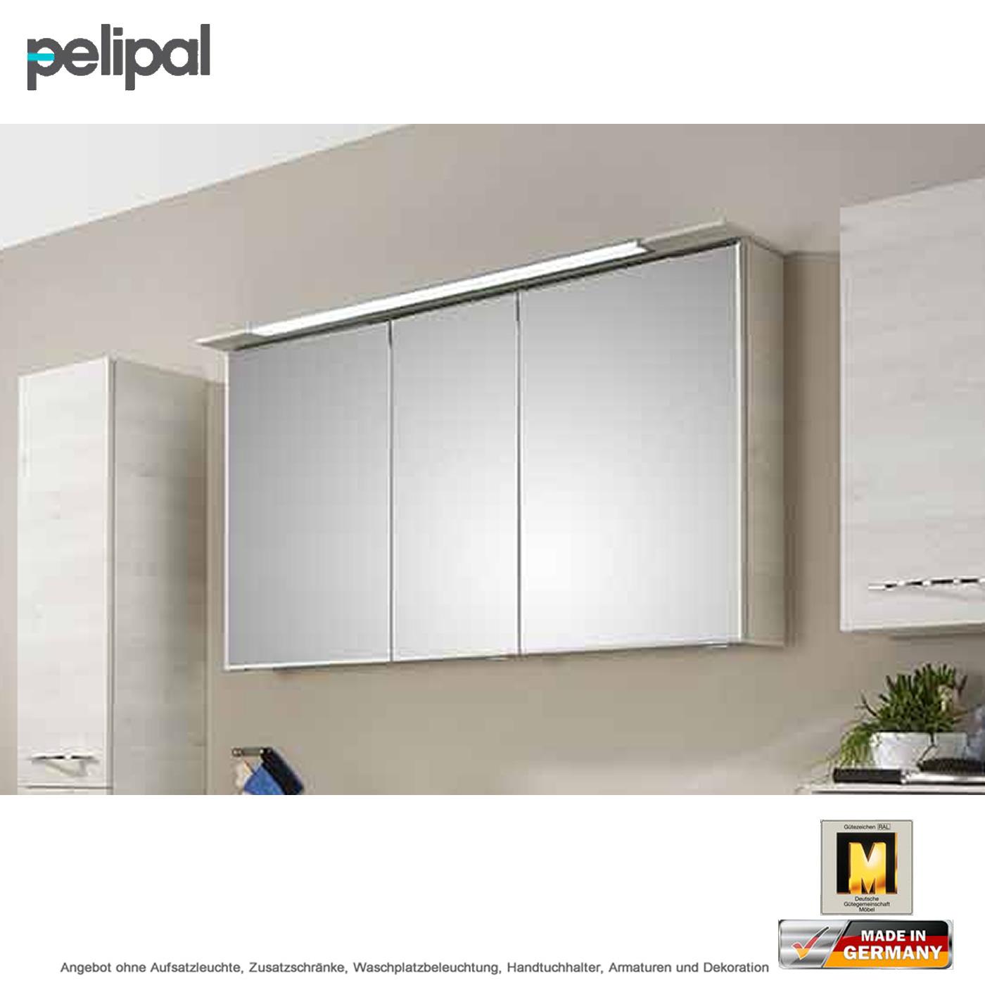 pelipal solitaire 6110 spiegelschrank 120 cm mit led kranzbeleuchtung impulsbad. Black Bedroom Furniture Sets. Home Design Ideas