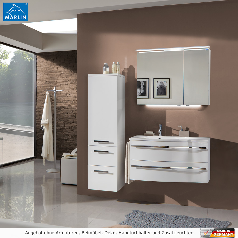 marlin badm bel als set motion mit spiegelschrank und. Black Bedroom Furniture Sets. Home Design Ideas