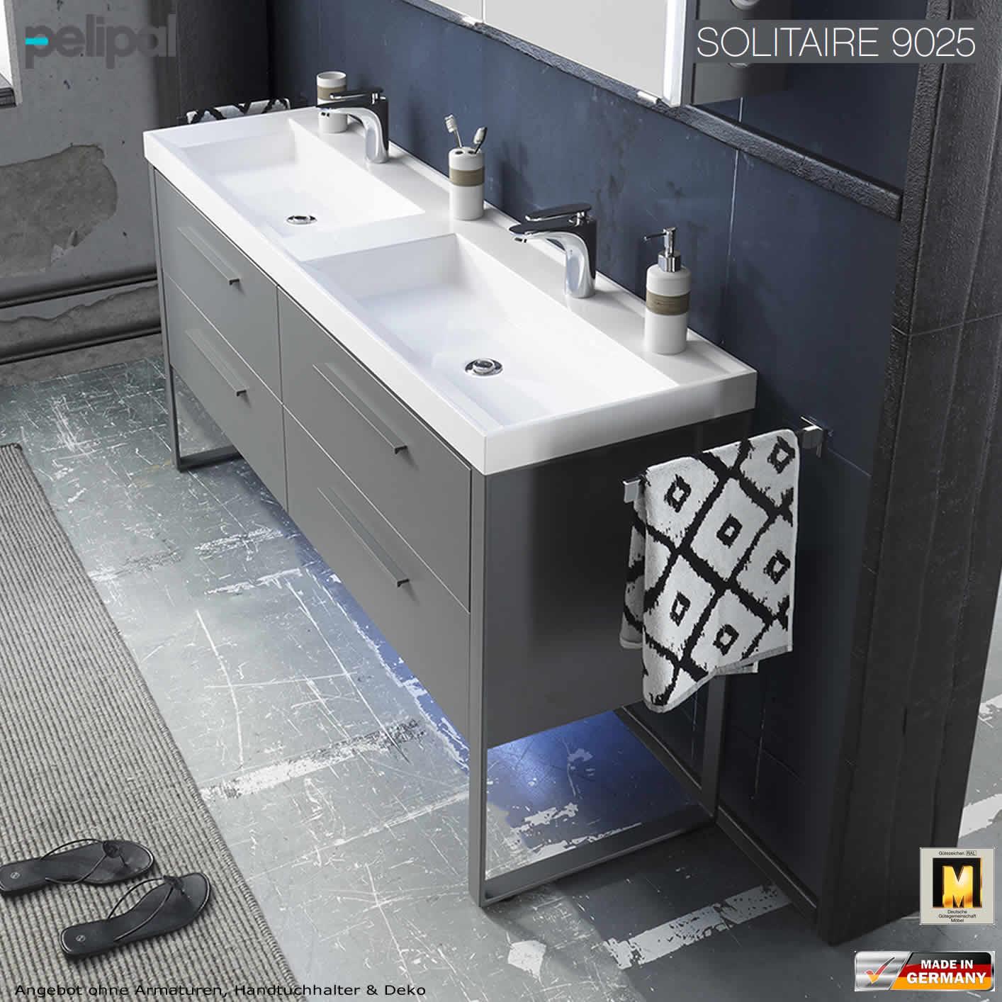 pelipal solitaire 9025 waschtisch set 160 cm breite mineralmarmor impulsbad. Black Bedroom Furniture Sets. Home Design Ideas