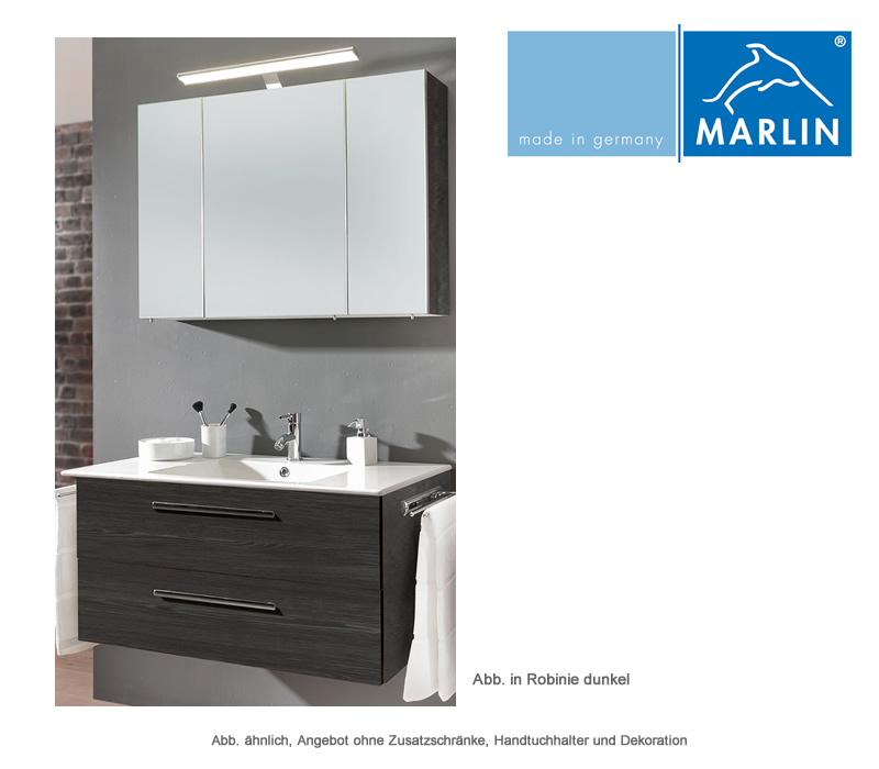 marlin badm bel als set christall mit spiegelschrank 100 cm impulsbad. Black Bedroom Furniture Sets. Home Design Ideas