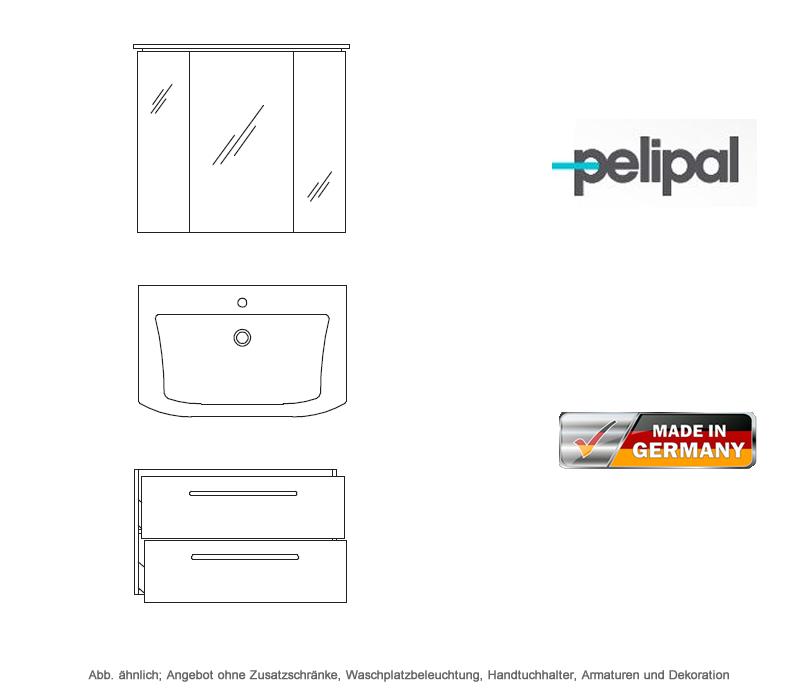 Pelipal Badmobel Als Set Contea Mit Spiegelschrank 80 Cm Impulsbad