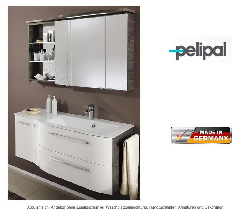 pelipal badm bel als set contea mit spiegelschrank 119 cm. Black Bedroom Furniture Sets. Home Design Ideas