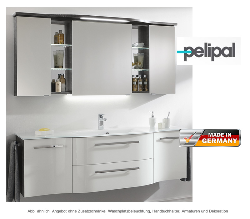 pelipal badm bel als set contea mit spiegelschrank 158 cm impulsbad. Black Bedroom Furniture Sets. Home Design Ideas