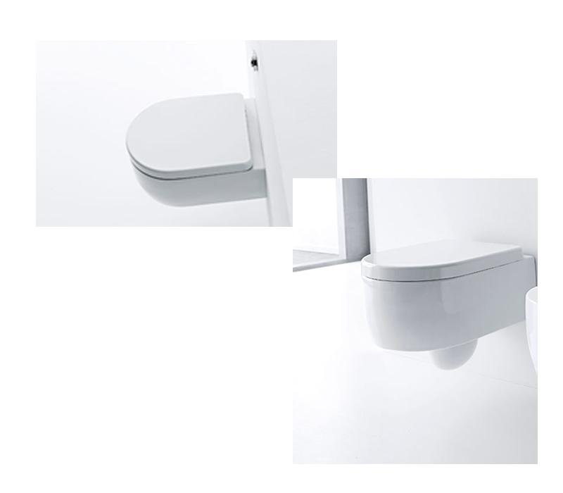 flero benina design wand wc aus italien impulsbad. Black Bedroom Furniture Sets. Home Design Ideas
