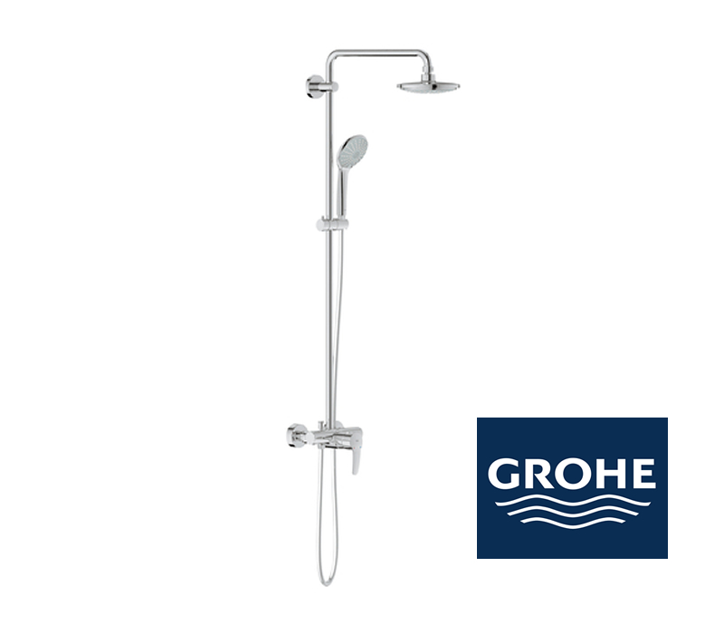 grohe euphoria system 180 duschsystem mit einhandmischer f r wandmontage impulsbad. Black Bedroom Furniture Sets. Home Design Ideas