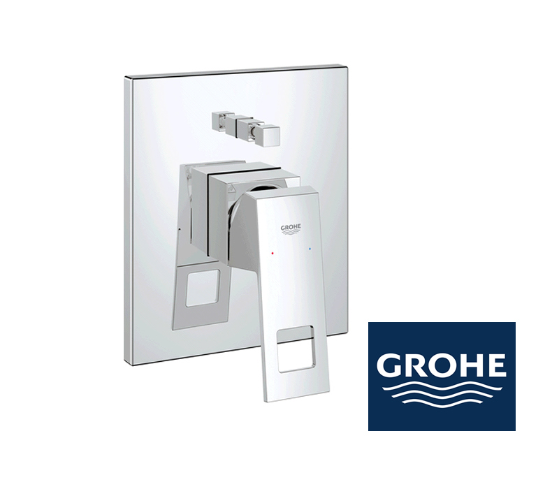 grohe eurocube wannenarmatur unterputz in chrom impulsbad. Black Bedroom Furniture Sets. Home Design Ideas