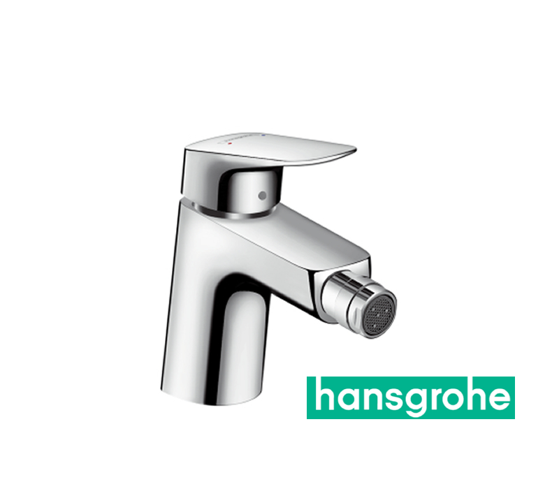 hansgrohe logis einhebel bidetarmatur 70 mit zugstangen ablaufgarnitur in chrom impulsbad. Black Bedroom Furniture Sets. Home Design Ideas