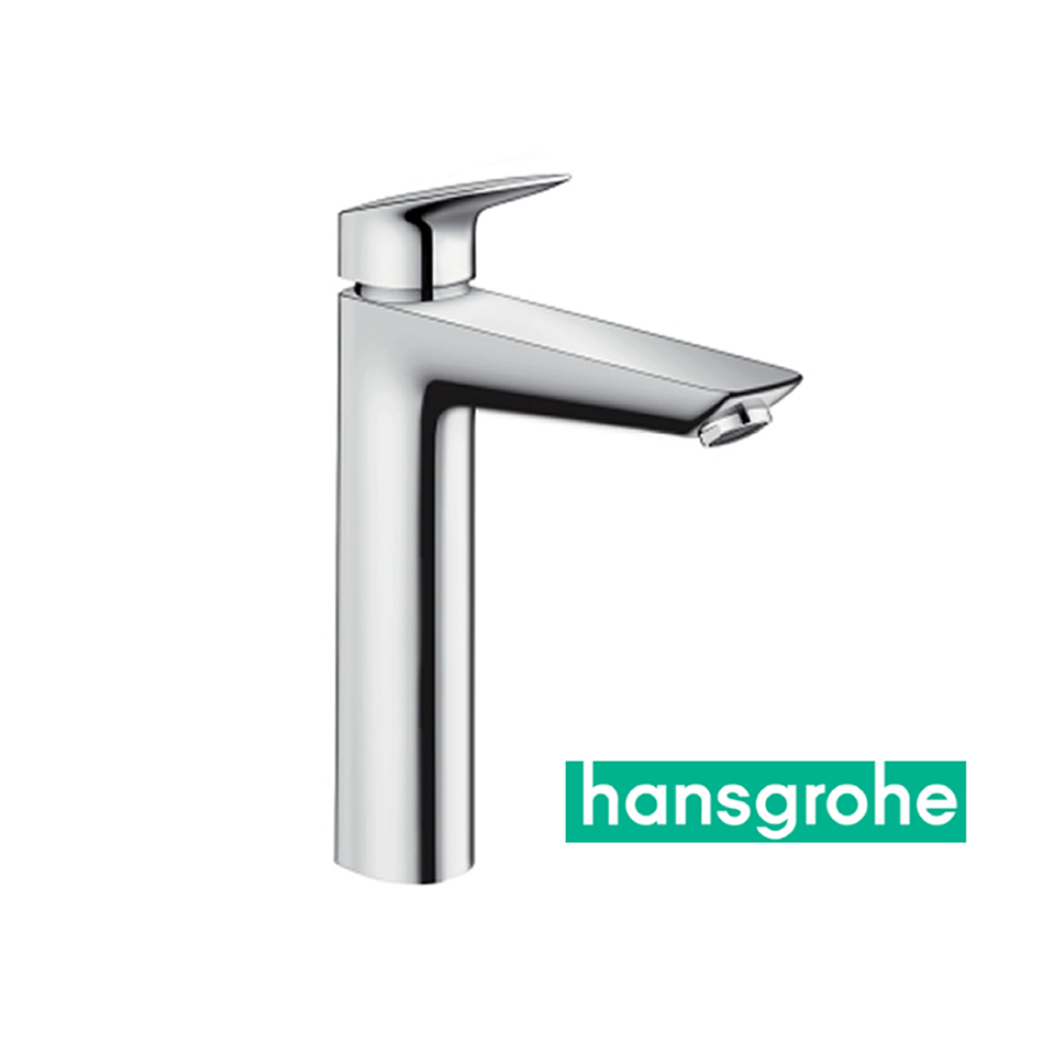 hansgrohe logis einhebel waschtischarmatur 190 mit zugstangen ablaufgarnitur in chrom impulsbad. Black Bedroom Furniture Sets. Home Design Ideas