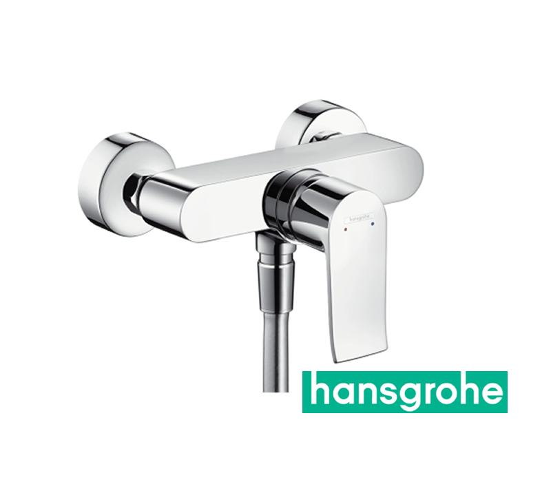 hansgrohe metris einhebel duscharmatur aufputz in chrom impulsbad. Black Bedroom Furniture Sets. Home Design Ideas
