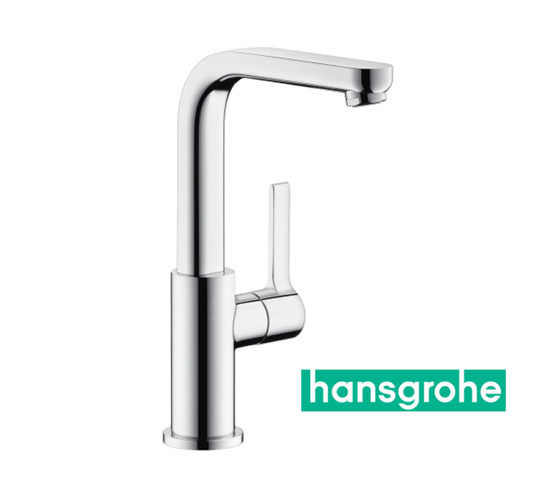 hansgrohe metris s einhebel waschtischarmatur mit zugstangen ablaufgarnitur und schwenkauslauf. Black Bedroom Furniture Sets. Home Design Ideas