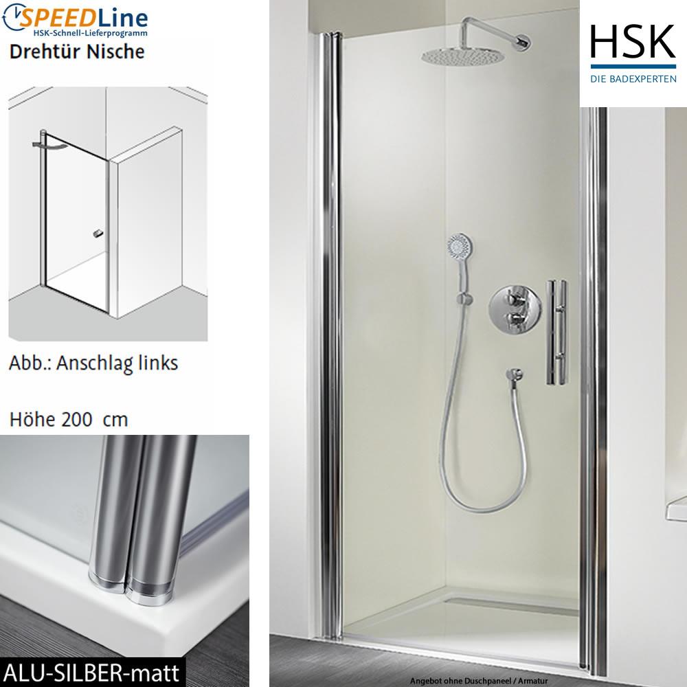 hsk dusche aus glas nischenl sung 100x200 cm 1. Black Bedroom Furniture Sets. Home Design Ideas