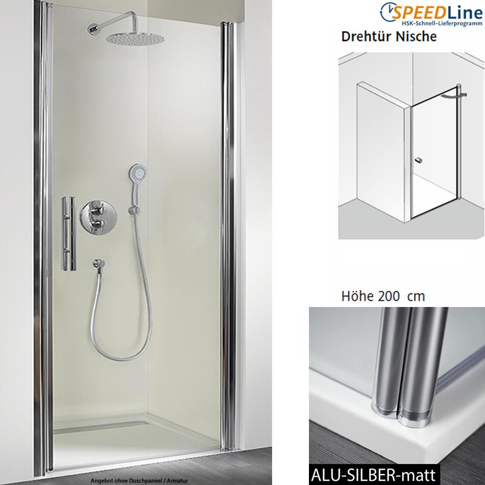 hsk dusche aus glas nischenl sung 90x200 cm 1 teilig. Black Bedroom Furniture Sets. Home Design Ideas