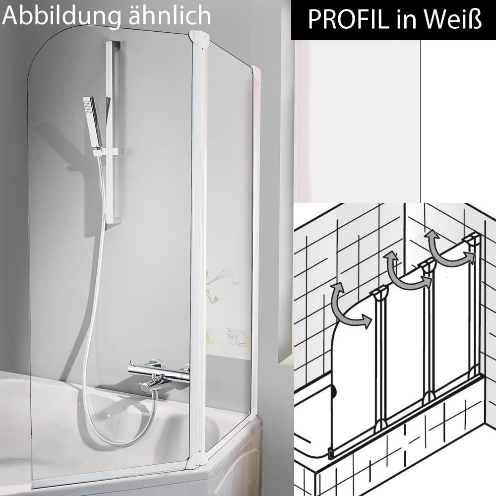 hsk favorit badewanennaufsatz 3 teilig 120 cm breite 140 cm h he variante rechts wei. Black Bedroom Furniture Sets. Home Design Ideas