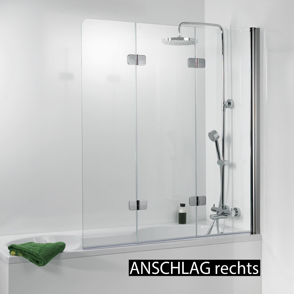 hsk premium softcube badewanennaufsatz 3 teilig 140 cm h he variante rechts chromoptik. Black Bedroom Furniture Sets. Home Design Ideas