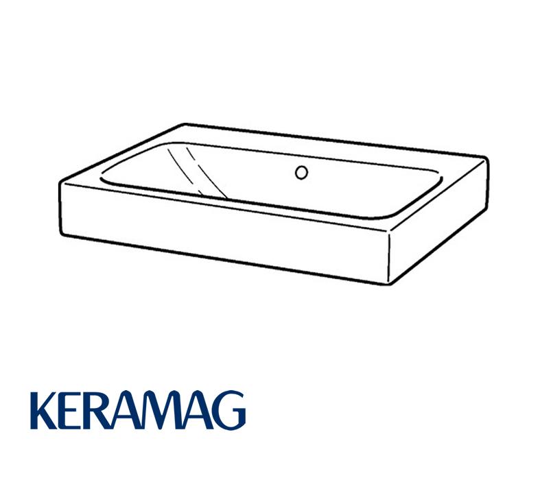 keramag icon waschtisch ohne hahnloch und berlauf 60 cm impulsbad. Black Bedroom Furniture Sets. Home Design Ideas