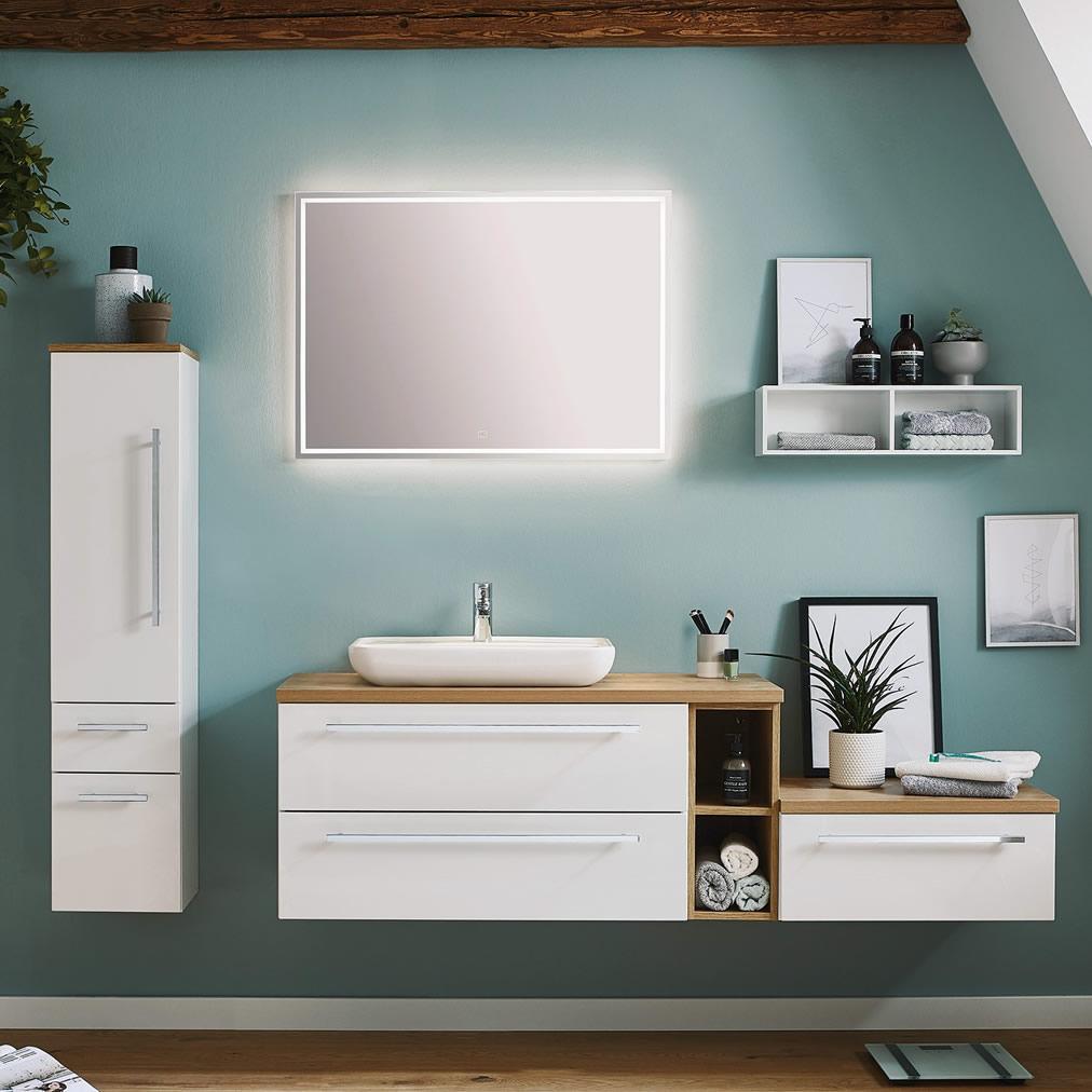 puris kera plan badm bel set 170 cm mit aufsatzwaschbecken. Black Bedroom Furniture Sets. Home Design Ideas