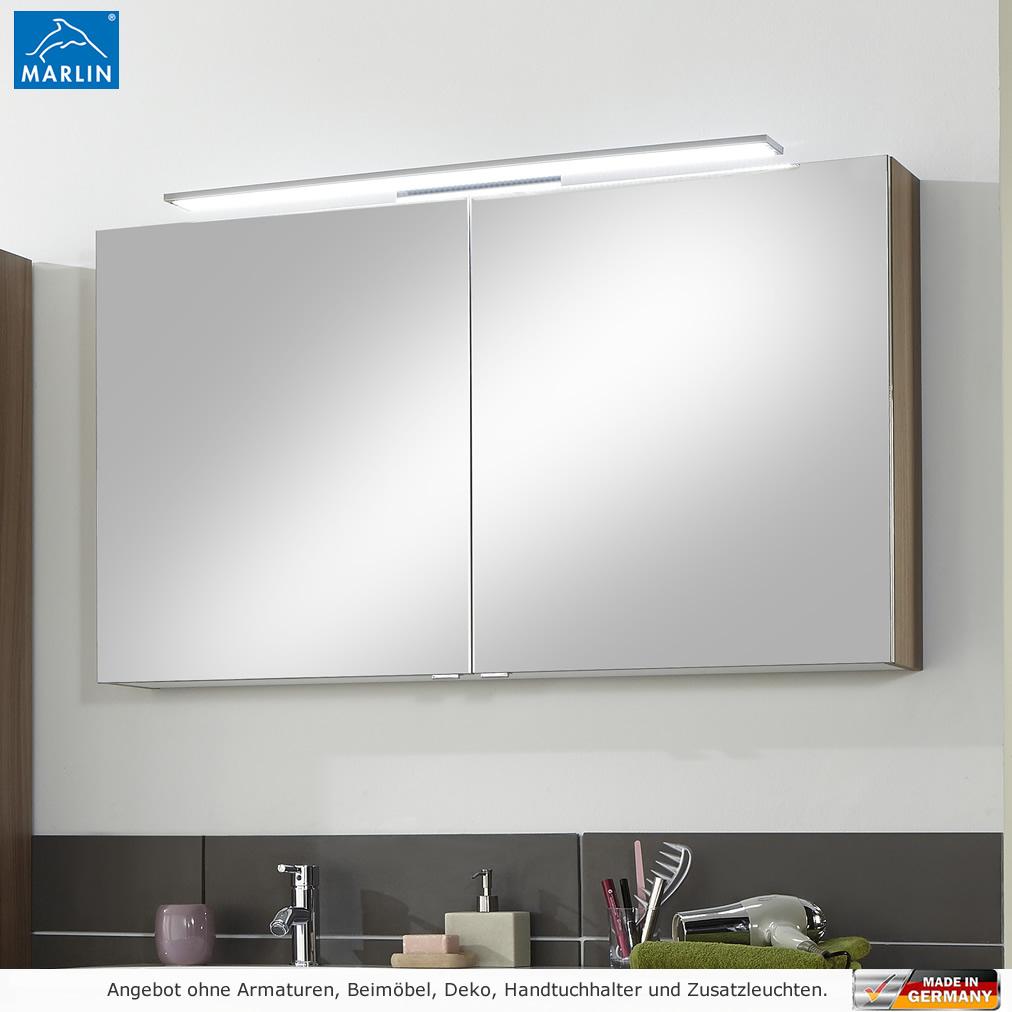 Marlin Cosmo Spiegelschrank mit LED Aufsatzleuchte 120 cm   Impulsbad